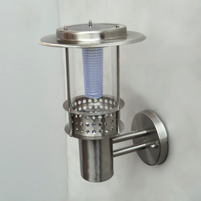Solar LED Wall Lamps Outdoor Garden Stainless Steel IP53 2W Corridor 2 pcs/lot