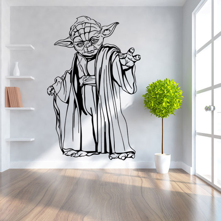 New Star Wars Star Wars Cartoon Characters Living Room Bedroom Kids Room Wall Stickers Removable