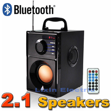 2016 New Portable Stereo Bluetooth Speaker 2.1 Subwoofer Can Play TF Card And USB And FM Radio As Well As For Family Travel