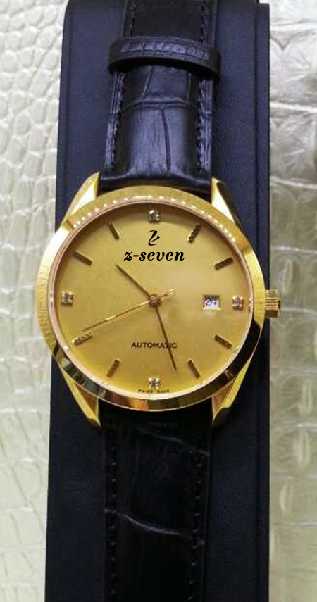 Well-known brand elegant and fashionable gold watch men watch waterproof and shockproof date display automatic mechanical watch(China (Mainland))