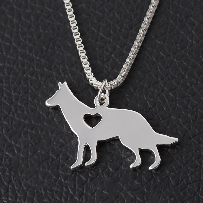 9 Style German Shepherd Dog Necklaces Silver Pet German Shepherd Necklace Best Friend Necklace Dog Breed Jewelry(China (Mainland))