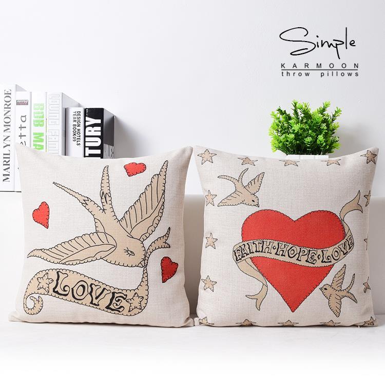 British Nobility True love pillow wedding decoration pillowcase Car Cushion office home decoration sofa cushion