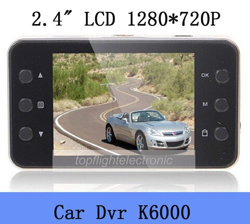 2015 new k6000 Car DVR 2.4 inch TFT LCD full hd 1280*720 Driving Recorder High Quality Camera video cheap(China (Mainland))