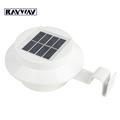 3 LEDs Solar Powered Fence Gutter Light Outdoor Garden Wall Lobby Pathway Lamp White Color Waterproof
