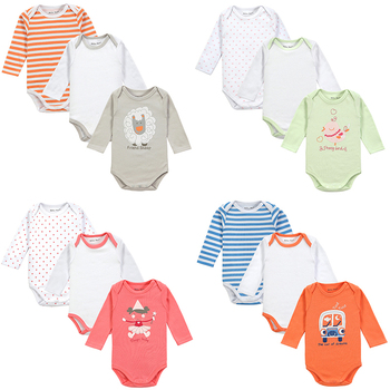 Fantasia Infantil 3Pieces/lot Baby Body 100% Cotton 4 Styles Cute Animal Trimmed Baby Boy Clothes Jumpsuit Carter Winter Romper