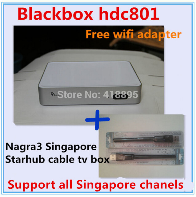 2016 singapore Latest starhub box blackbox c801 hd free watch all Singapore channel better than blackbox c600(China (Mainland))