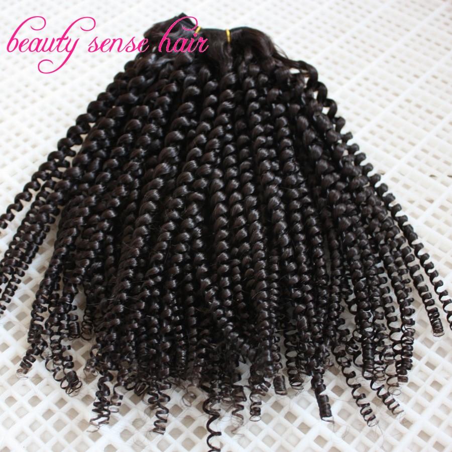 Fashion designed spiral curly Brazilian virgin hair extensions 3pcs /lot Human hair weaving bundles free shipping(China (Mainland))