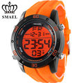 Fashion Casual Watches Men Orange LED Digital Watches Sports Alloy Clock Male Automatic Date Watch Army