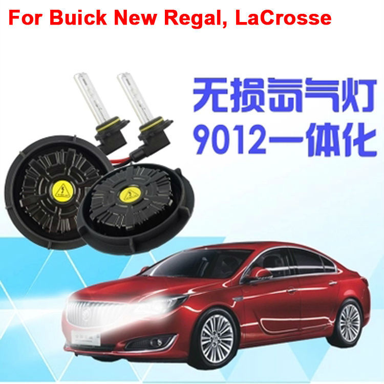 All in One AC NO ERRORCanbus HID Conversion Kit Ballast hir2 xenon bulb 9012 xenon lamp 5000K 6000K For Buick New Regal LaCrosse(China (Mainland))