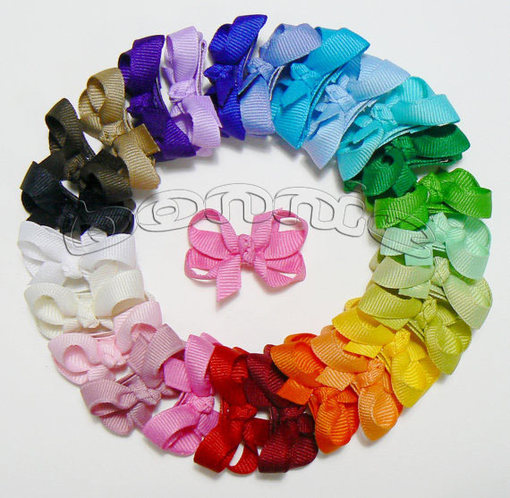Free Shipping 12pcs baby hair clips infant baby boutique bows 57 colors(China (Mainland))