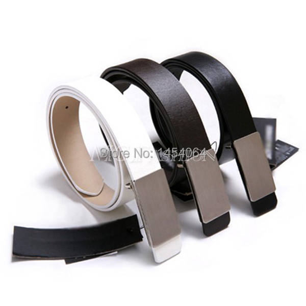 Fashion Luxury Men's Boy Auto Lock Buckle Leather Waist Belts Waistband(China (Mainland))