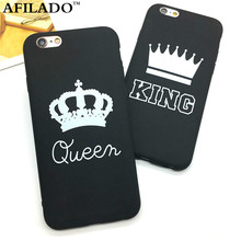 Fashion Brand King Queen Soft TPU Ultra Thin Back Covers for IPhone 6 6s 5 5s SE Phone Cases Silicone Luxury Crown Slim Shell(China (Mainland))