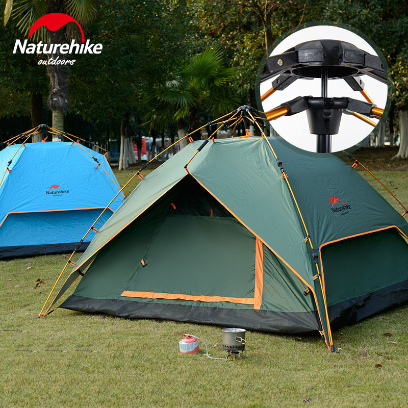 NH15Z016 - P hydraulic automatic folding tents 3-4 people outdoor family camping in the wild camping super fast transportation(China (Mainland))