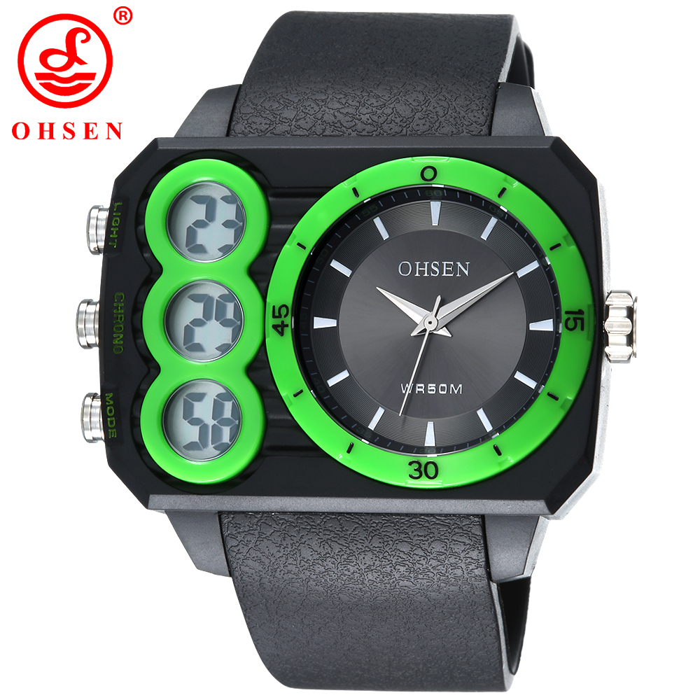 2015 New OHSEN Brand Men LED Digital Quartz Military Watch 50M Dive Swim Casual Dress Sports Watches Fashion Outdoor Wristwatch<br><br>Aliexpress