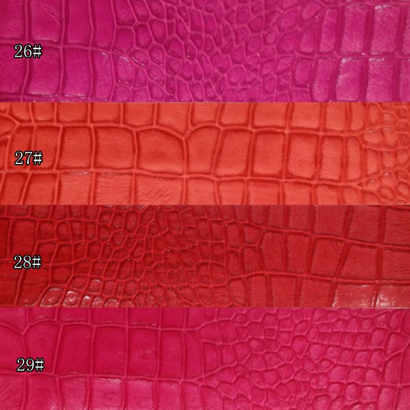 Rhine crocodile pattern PU leather embossed synthetic leather diy material fabric(China (Mainland))