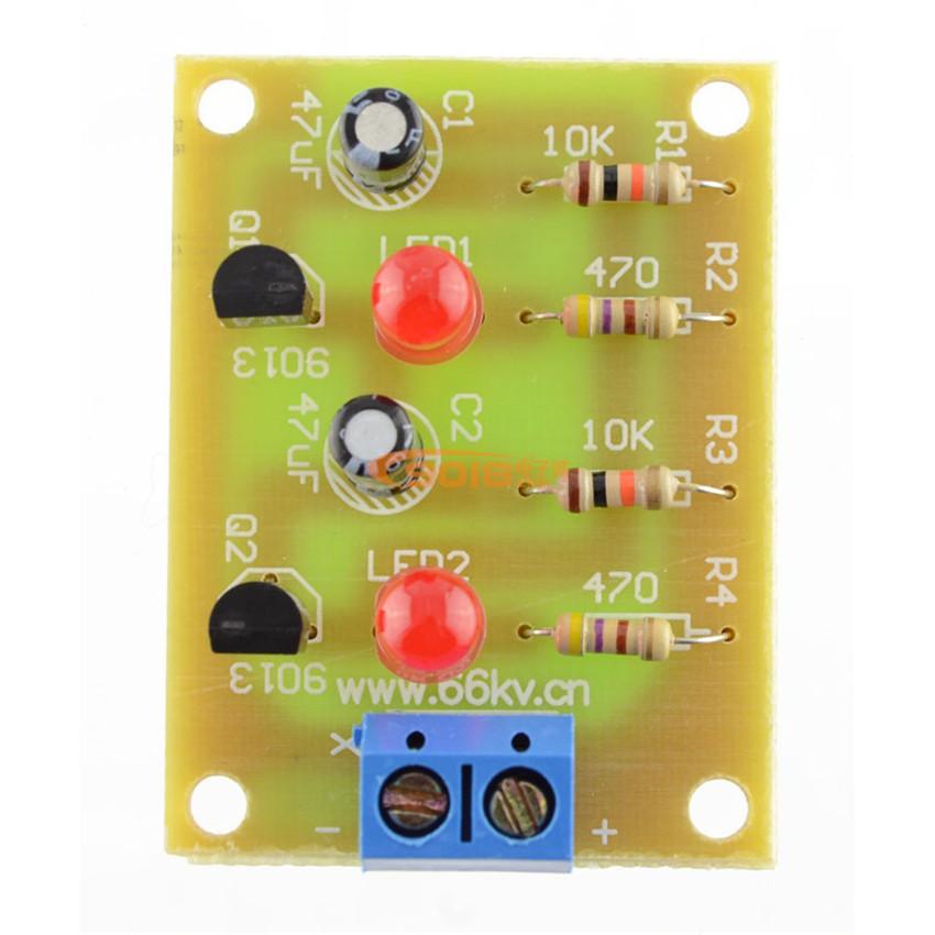 DIY 2 LED Simple flash circuit electronics production suite/bulk DIY suite 2 LED Simple flash circuit electronics bulk(China (Mainland))