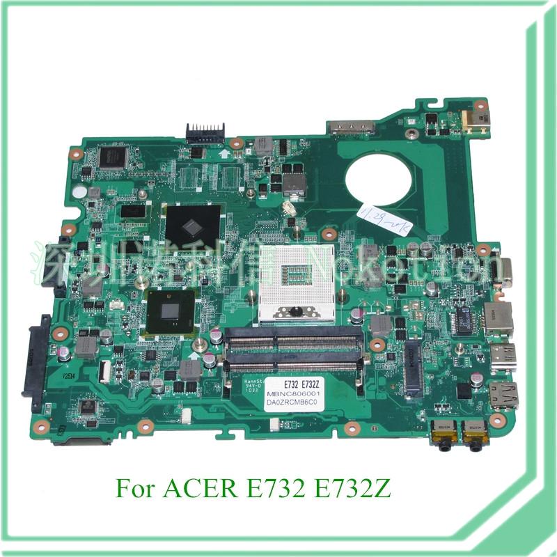 MB.NC806.001 DA0ZRCMB6C0 REV C MBNC806001 For acer aspire E732 E732Z motherboard HM55 DDR3 ATI HD 5470<br>