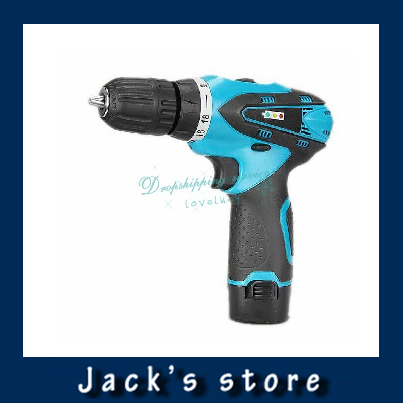 Здесь можно купить  Two-Speed 12V Rechargeable Lithium Battery Indicator Waterproof LED Light Electric Drill Hand Drill With Charger Free shipping  Инструменты