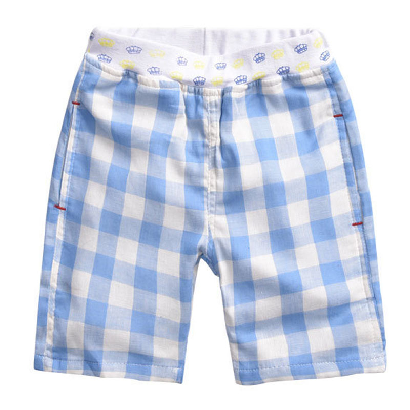 2016 Summer Boys Shorts Plaid Style Childrens Shorts Baby Wear Kids Clothes 100cotton Brand Quality D03X05(China (Mainland))
