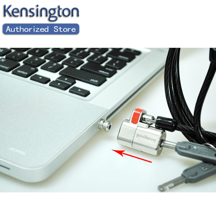 Kensington Original Anti-theft ClickSafe Keyed Laptop Ultrabook Lock with 1.5m Security Cable Chain Free Shipping(China (Mainland))