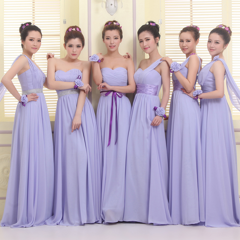 New Modern Wedding Dresses Bridesmaid Dresses Purple Lavender