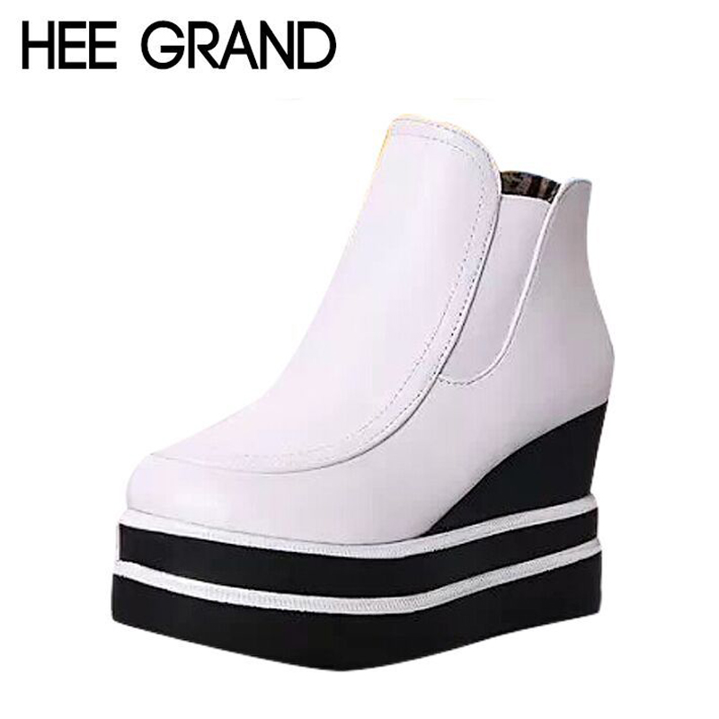 Platform Wedge Heel Women Ankle Boots Spring And Autumn Women Single Shoes XWX2474<br><br>Aliexpress