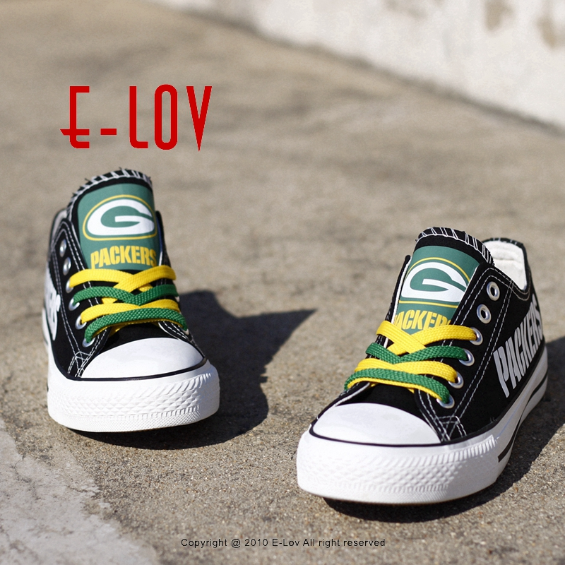 Wisconsin Green Bay Packers Super Bowl Printing Canvas Shoes Elite Aaron Rodgers MVP Champ Fans Customize Painted Shoe Souvenirs(China (Mainland))