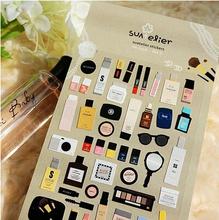 Neue sonder makeup serie tagebuch aufkleber Kawaii einzel-stück Paket Geschenk aufkleber WJ0090(China (Mainland))