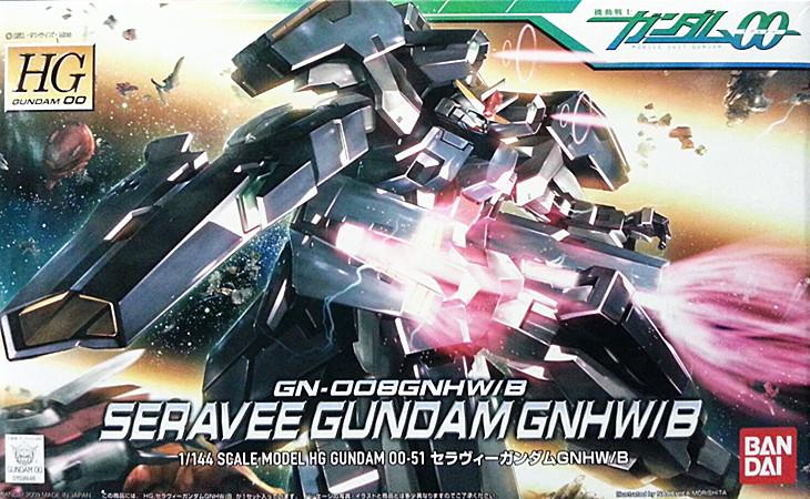 100% Genuine bandai model /Free shipping /00-51 HG 1:144 GN-008 GNHW/B Seravee Gundam Celestial Being /Assembled Robot gunpla<br><br>Aliexpress