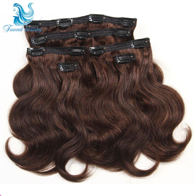 7A Grade 100% Peruvian Virgin Hair Remy Clips In Hair Extensions 6Pcs/Set  #2 Color Full Head Peruvian Virgin Hair Body Wave<br><br>Aliexpress