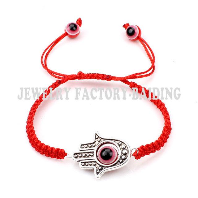 Ручной акриловые браслет красный сглаза бусины браслет хамса ювелирные изделия для ...