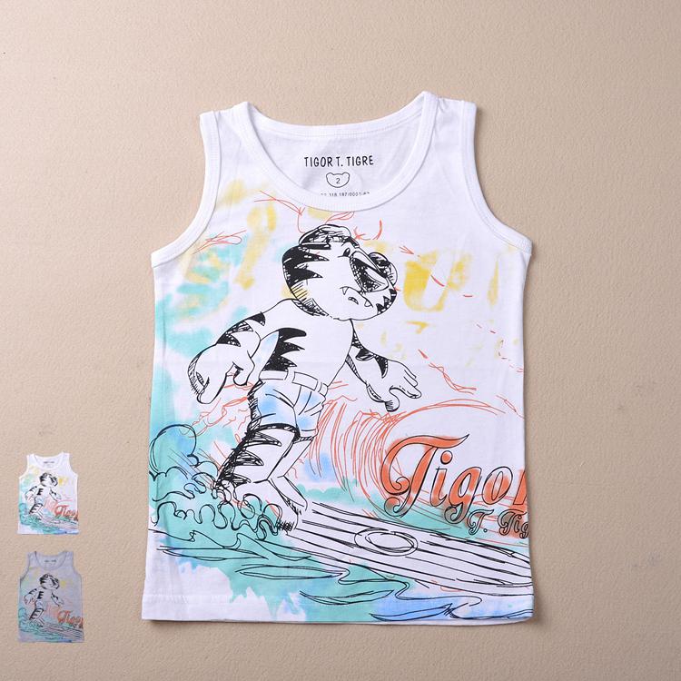 Brazil Hot! Brand Boys clothing 2015 new Summer Fashion Kids clothes Sleeveless O-Neck Cartoon boys t shirt 2-10 years old - Yongsheng Trading Co., LTD. store