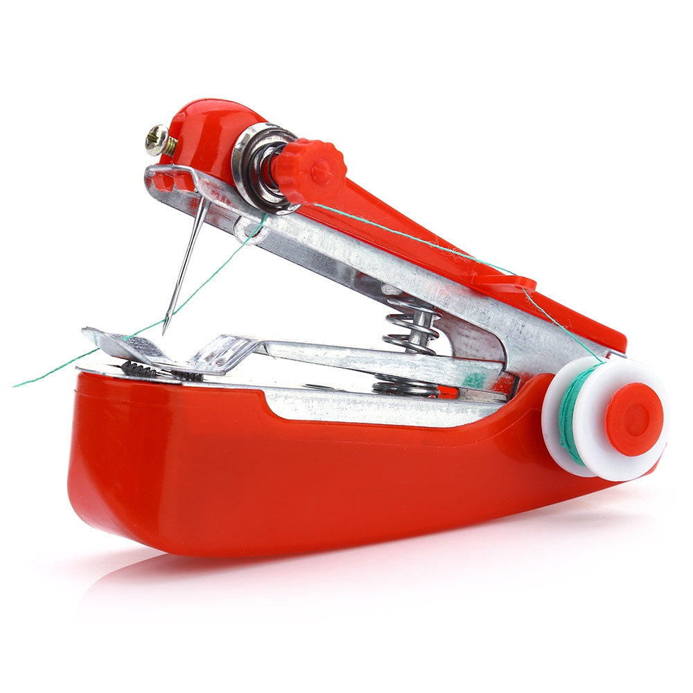 2017 Mini Sewing Machine Useful Portable Needlework Cordless Mini Hand-held Clothes Fabrics Sewing Machin For Home Travel To Use