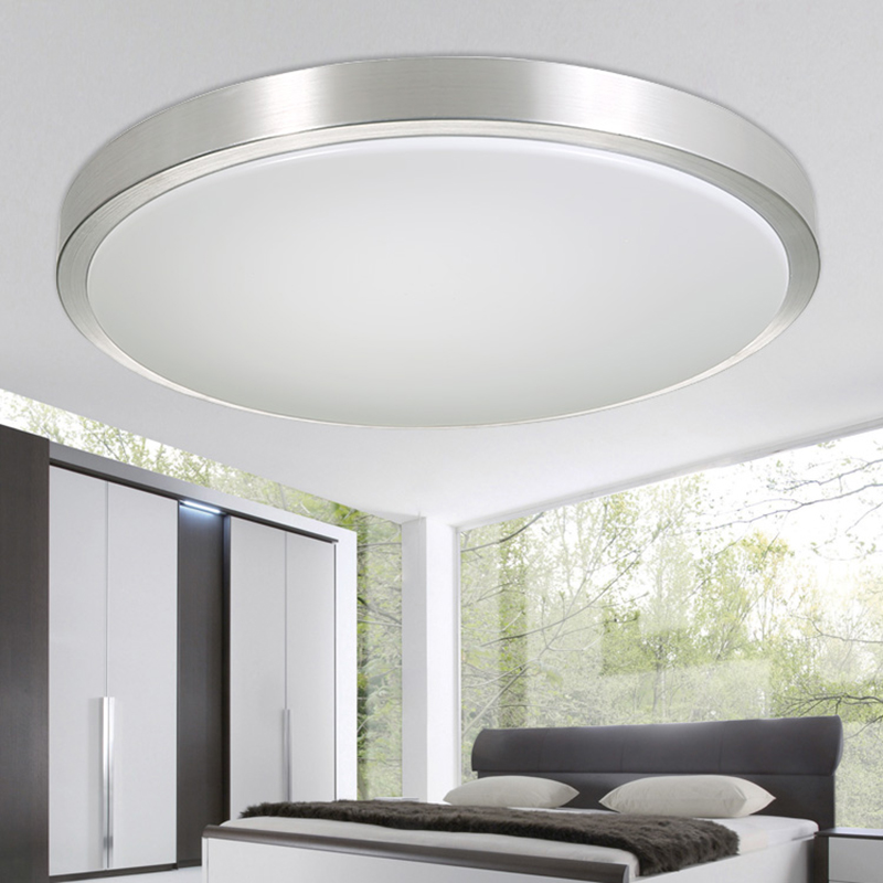 Round Modern Living Lamps Lighting Fixtures Luces Del Techo Led Ceiling Lights Bedroom Acrylic