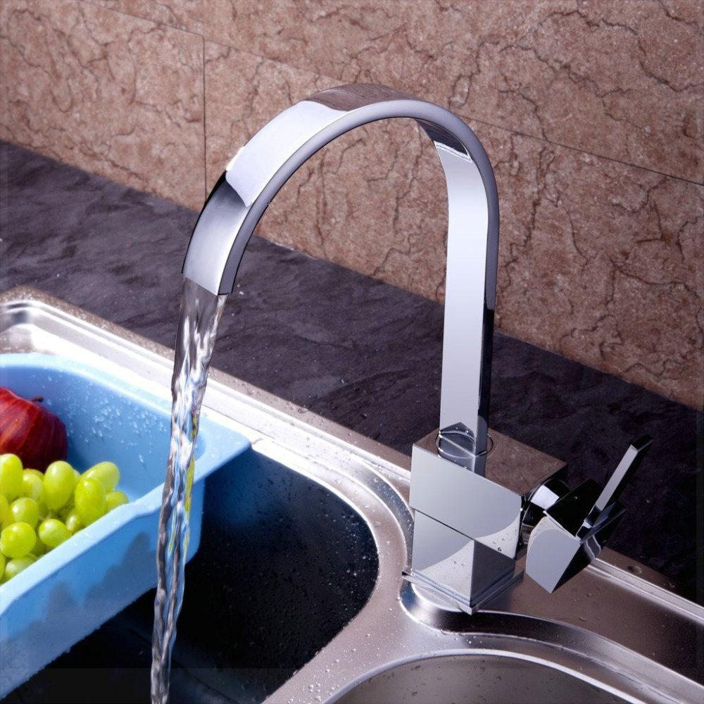 Brand Modern Copper Bar Waterfall Sink best Single Handle kitchen Faucets Water Tap on Sale torneira da cozinha sai pouca agua p(China (Mainland))