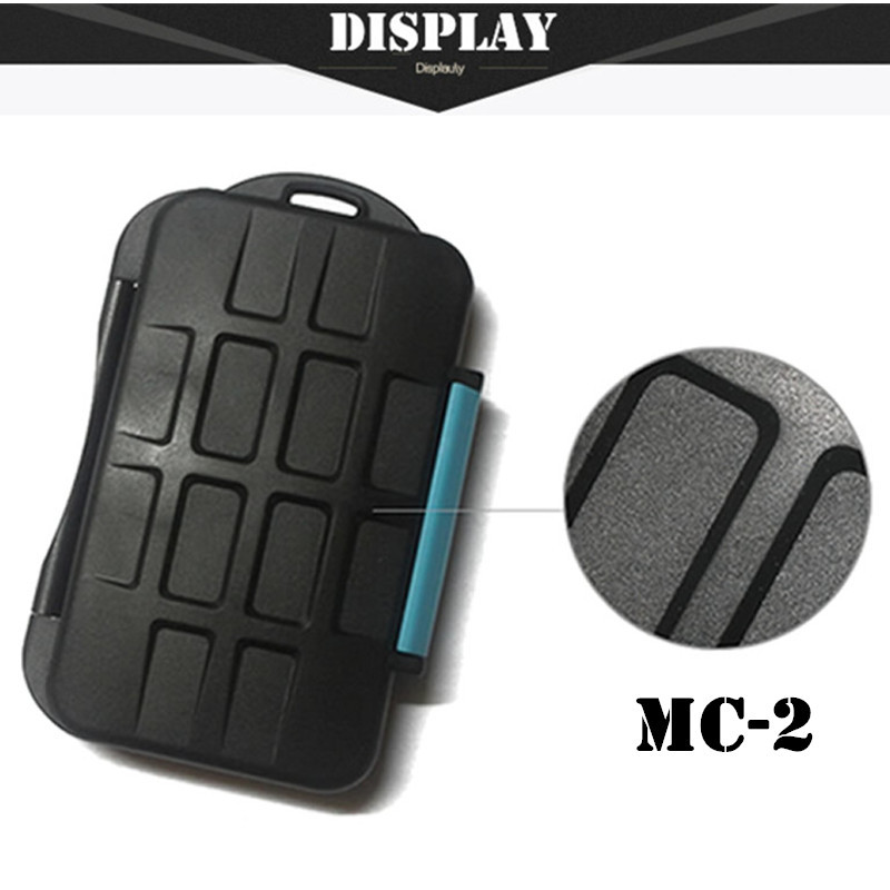 Free shipping SD Card Holder Waterproof Extremely Tough Memory Card Case MC-2 for 4 CF Cards 8 SD Card Box(China (Mainland))