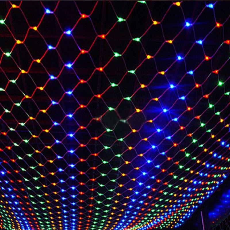 Led String light Holiday Lighting 3*2M 200LEDs Christmas Party Decor Lamp Net Mesh Curtain EU 220V Warm White With Tail Plug(China (Mainland))