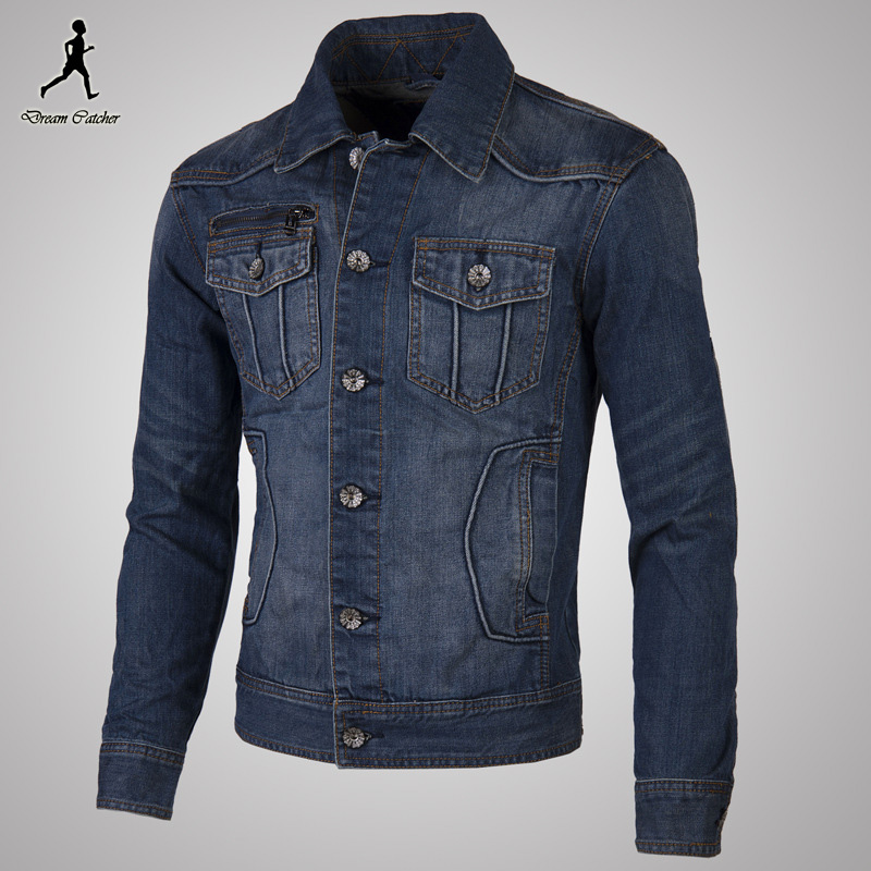 Men Jacket Cardigans Coat Outwear Men's Casual Fashion Slim Fit Spring Large Size Denim Jeans Jacket Cardigans Coat Outwear Male