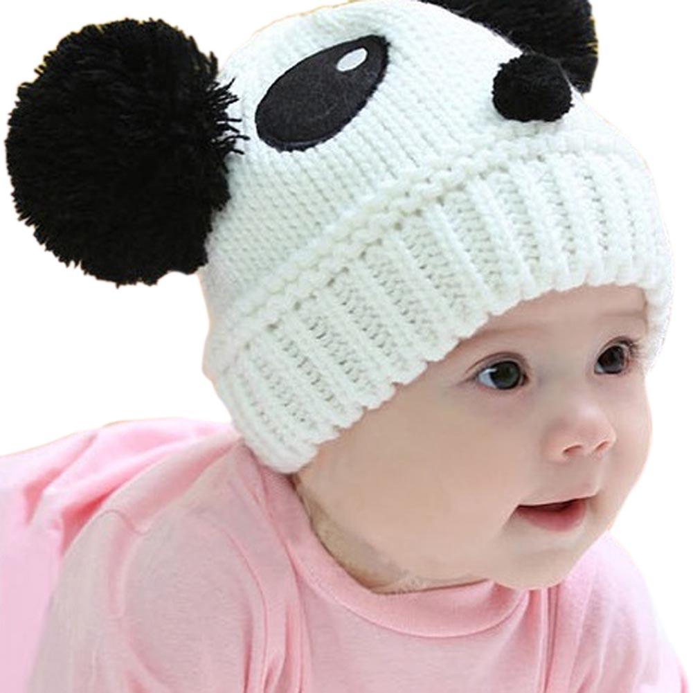 Lovely Animal Panda Baby Knitted Hats Kids Winter Keep Warm Crochet Beanie Caps M09(China (Mainland))