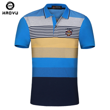 Men's Polo Shirt 100% Cotton Short Sleeves Argyle Logo Gradient Anti-Wrinkle European and American Style Slim Famous Brand New