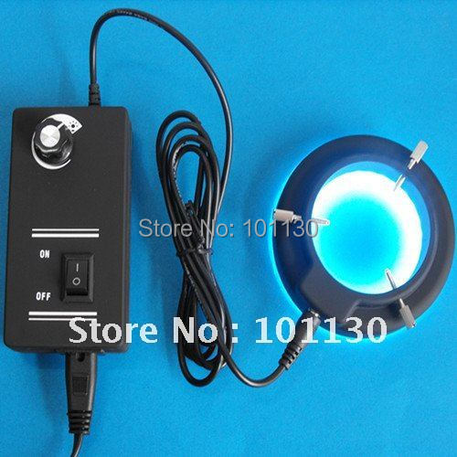 White Light 60mm binocular Stereo Microscope lighting Ring Lamp with 60pcs LED Lights and Adapter 110v-240v
