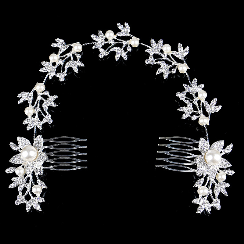 Wedding Bridal Pearl Hair Pins Flower Crystal Hair Clips Bridesmaid Jewelry Wedding Bridal Accessories Hair Jewelry(China (Mainland))