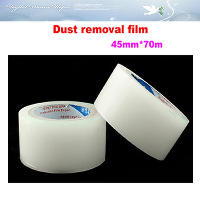 Free shipping! Dust removal film 45mm*70m for mobile phone tablet LCD screen dust removal sticker hot(China (Mainland))