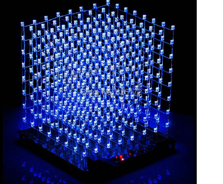 3D 8S LED Light Cube DIY Kit Animation Effects /3D CUBE 8 8x8x8 /Kits/Junior,3D Display,Christmas Gift - diag2all ru store