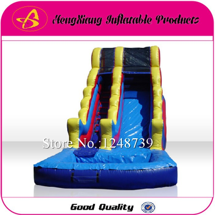 Top Quality Inflatable Water Slides With Swimming Pool ,Castle Slide Commercial Trampoline With Fun(China (Mainland))