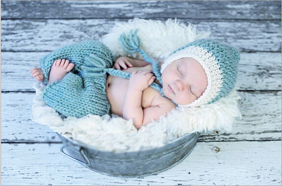 2015 New 1 Set Retail Cotton Newborn Photography Props Costume Hand Crochet Knit Infant Baby Hat and pants 2 colors GM011(China (Mainland))