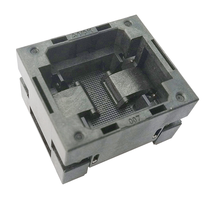 BGA80 OPEN TOP burn in socket pitch 1.0mm IC size 11*13mm BGA80(11x13)-1.0-TP01NT BGA80 VFBGA80 burn in programmer socket