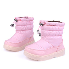 New Girls Boots Winter Waterproof Warm Booties Fashion Children Shoes Girl Rain Boots Kids Snow Boots for Toddler/Little Kid(China (Mainland))