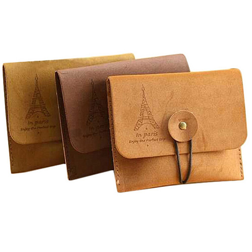 Womens Mens Vintage Eiffel Tower Coin Purse Small Fold Key Pouch Wallet Bag <br><br>Aliexpress