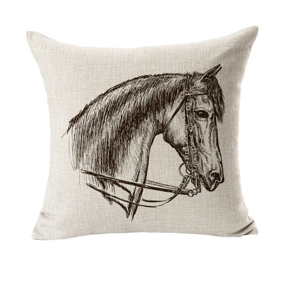 pics photos the horse head pillow case